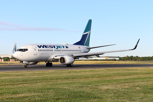 cgywj boeing 737 737700 westjet dublinairport dub dublin airport aviation aircraft airplane sunrise taxi taxiway bravo ireland canada