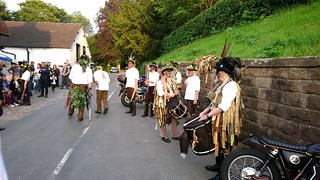 The Band, Domesday Morris Dancing at the White Lion, Barthomley, Cheshire
