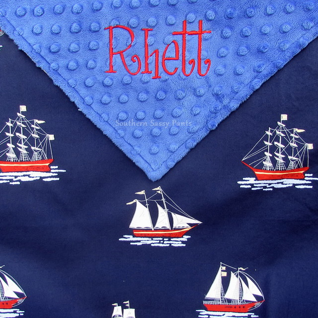 Nautical Sailing Baby Blanket