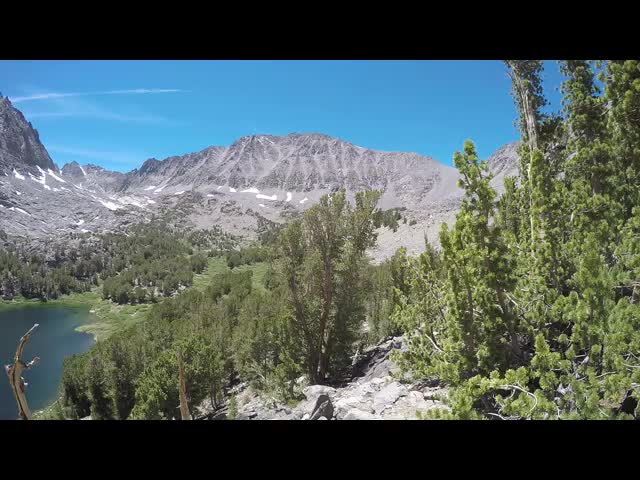 1113 GoPro panorama video from the trail high above Sixth Lake