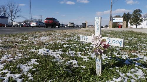 Roadside Memorial for Mory Martins (1 of 1)