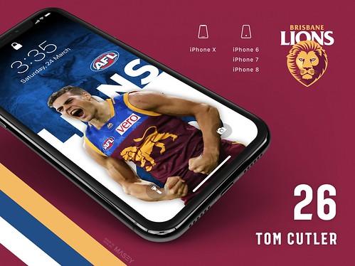 Tom Cutler (Brisbane Lions) iPhone Wallpaper