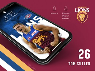 #26 Tom Cutler (Brisbane Lions) iPhone Wallpapers | by Rob Masefield (masey.co)