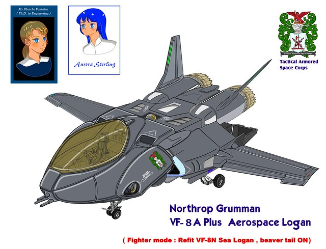 ( Fighter mode, early production block ) VF-8A Plus Aerospace Logan