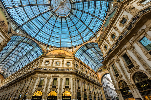 Glass dome of Galleria Vittorio Emanuele in Milan, Italy   by Phil Marion (173 million views - THANKS)