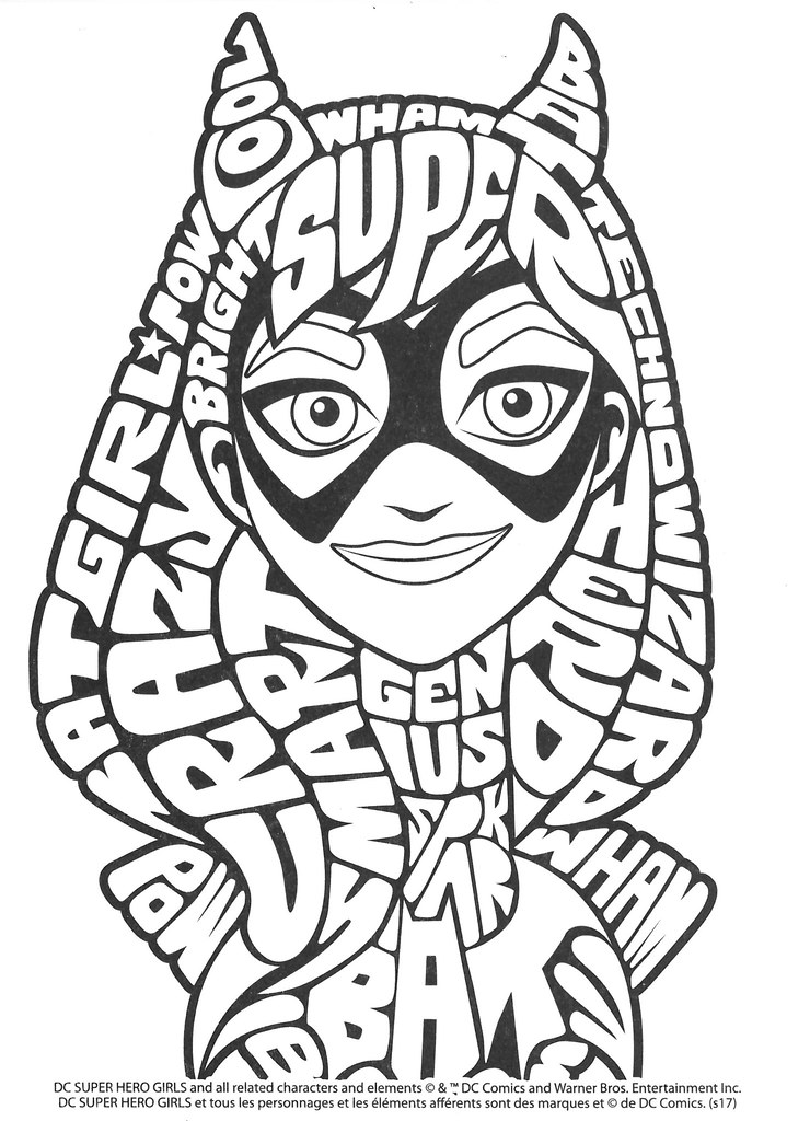 DC Super Hero Girls Free Printable Coloring Page (con imágenes ... | 1024x740