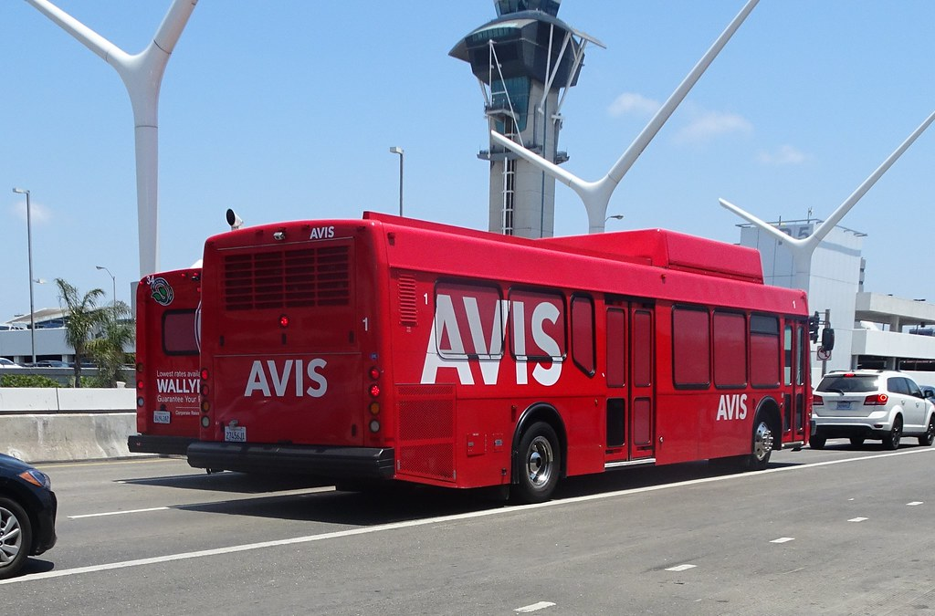 AVIS Car Rental shuttle bus at LAX Airport (1) | rwcar4 | Flickr