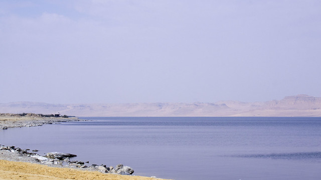 At Egypt's Lake Qaron in Fayoum