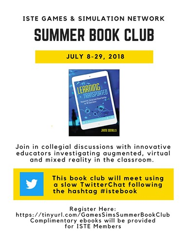 ISTE Games & SIms Network Book Club Flyer | by kaezenovka