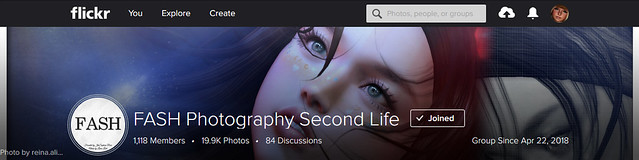 FASH Photography Second Life Group Cover