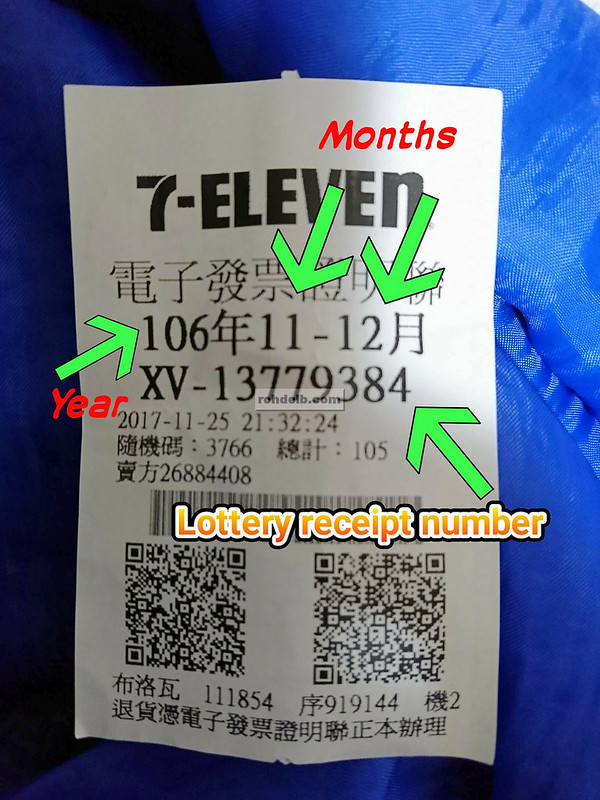 Taiwan Lottery Receipt Mos  05-06, 2019 (WITH INSTRUCTIONS)10M$