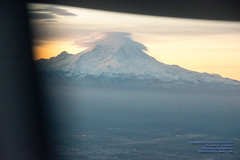 Seeing Mount Rainier in the Sunrise From A Rising #Q400