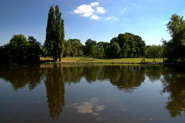 Reflections at Haslam Park, Preston