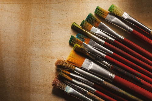 Various Used Wooden Paintbrushes | by dejankrsmanovic