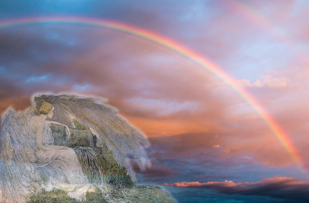 Segantini´s angel watching the rainbow.
