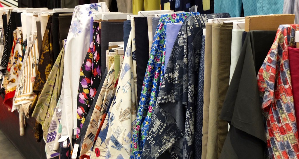 Fabrics At The Cutting Line Designs At The Raleigh Nc Sewi Flickr