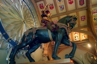 Saint George on horseback   by The British Monarchy