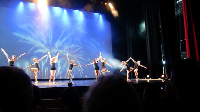 Dancers in black