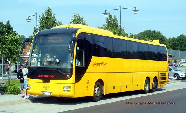 MAN Lion´s Coach Nobina 6776 Skäne route 10 Ôrkelljunga
