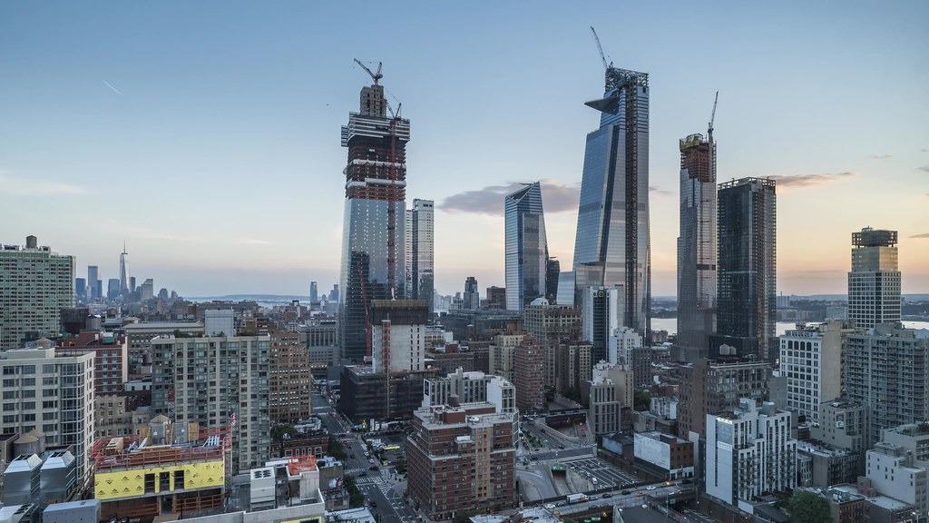 Manhattan West and Hudson Yards Day to Night Time Lapse