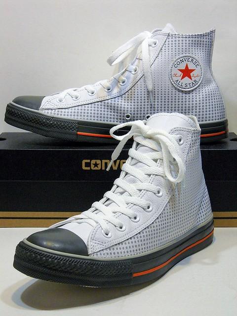 Dots Leather - White & Grey Hi 114834
