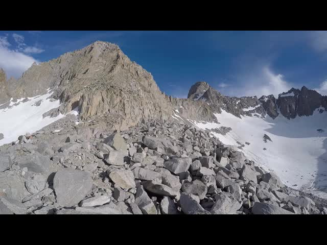 0823 GoPro panorama video of the Palisade Glacier and surrounding peaks