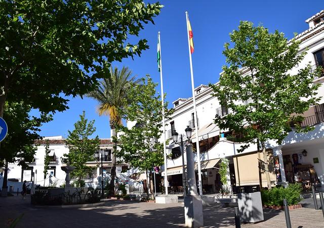 Plaza (Mijas, Andalucía, España, 16-6-2018)