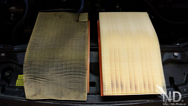 Volvo S80 2.4T Dirty vs New Airfilter