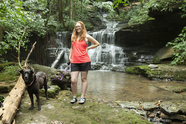 Ella and Kelli Lewis, The Old Mill Falls, White County, Tennessee