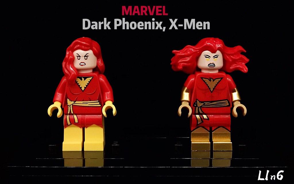 Custom Print LEGO minifigure Marvel X-Men Phoenix Green Jean Gray