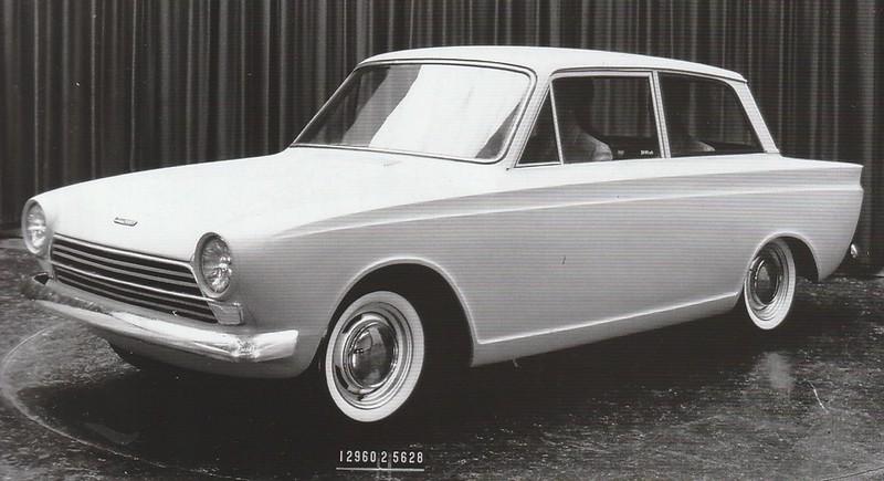 1960 Ford Cortina Prototype Press Photo - England