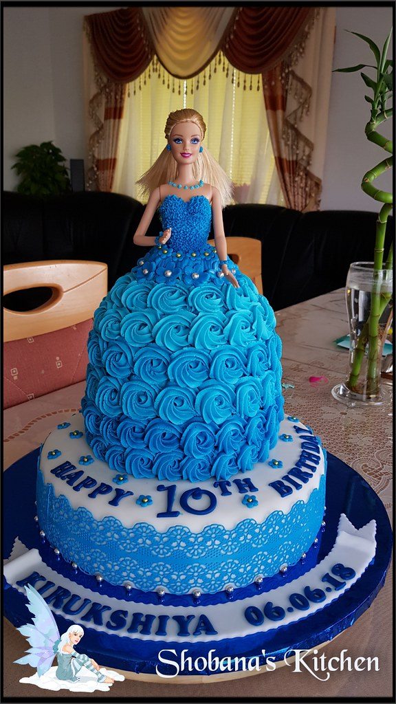 Pleasant Barbie Doll Cake 10 Th Birthday Cake You Can See This Vi Flickr Birthday Cards Printable Opercafe Filternl