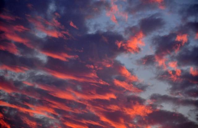 da minha janela... um céu de inverno!
