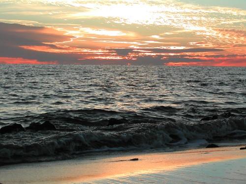 ocean sunset natural