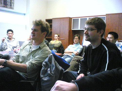 Alex Thomson and Ed Maste @ BarCampWaterloo#3 | by sbwoodside