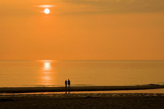 Romance at the beach in Bergen aan Zee