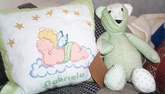 almofada Gabriela e urso verde | by Casa al mare