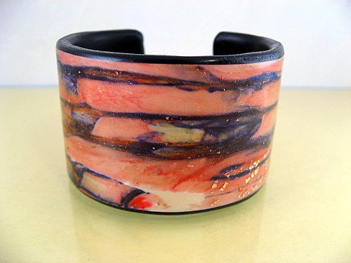Translucent Layered Polymer Cuff | by stonehousestudio