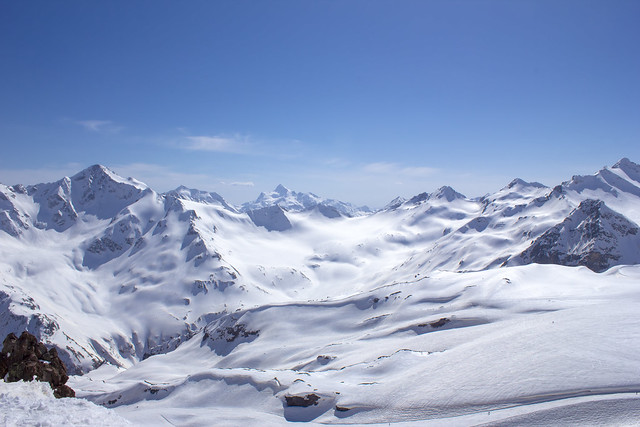 view from mount Elbrus (the altitude of 3 500 meters)