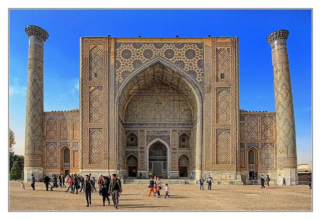 Samarqand UZ - Registan Ulugbek-Madrasa 12