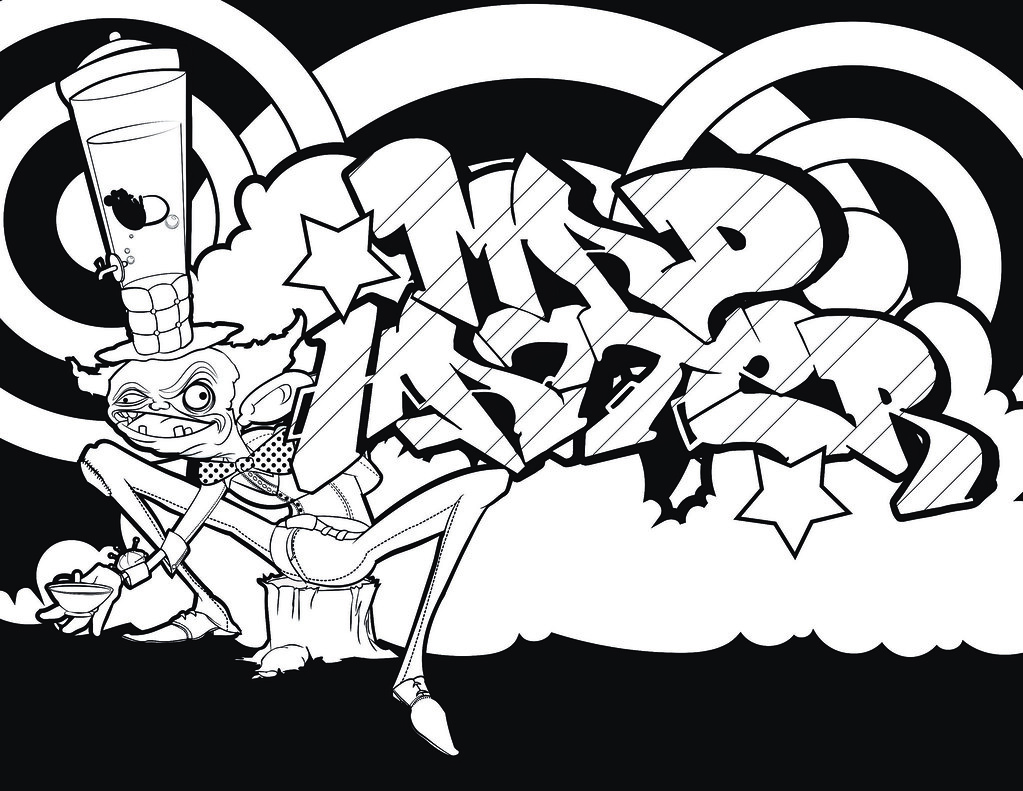 graffiti coloring pages for adults by sans Coloring4free ... | 791x1023