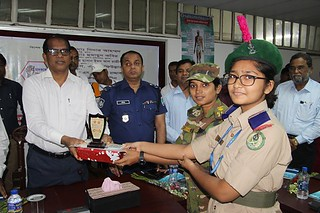 Cadet Reciving Creast from Khulna DC office 2018 (2) | by mcskedu