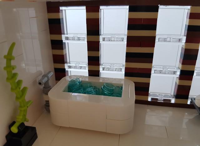 Coral House MOC bathtub