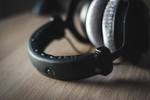 Studio Headphones on Wood   by kertojanaani.fi