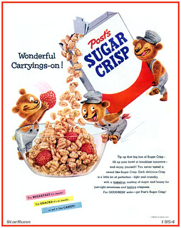 Post - Sugar Crisp  Wonderful Carryings-on!  1954