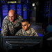 Master Sgt. Timothy Yablonsky, left, a space weather forecaster and detachment chief, and Senior Airman Zachary Lopez monitor radio signals emanating from the sun at the Sagamore Hill Solar Observatory of the 2nd Weather Squadron, Det. 2, in Hamilton, Mass., Jun. 1, 2018. The 2nd WS, headquartered at Offutt Air Force Base, Neb., operates four solar observatories around the globe which enable constant monitoring of the sun for solar phenomenon which may interfere with electronic equipment. (U.S. Air Force photo by J.M. Eddins Jr.)