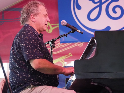 David Torkanowsky performs with Shannon Powell Traditional All-Star Band at Satchmo SummerFest - Aug. 3, 2018. Photo by Michele Goldfarb.