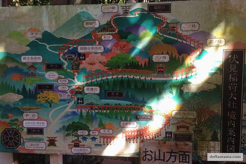 9 Hari Babymoon ke Jepang - Mt. Inari Map | by deffa_utama