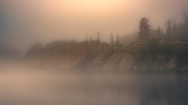 Sylvan Lake in the Mist, South Dakota