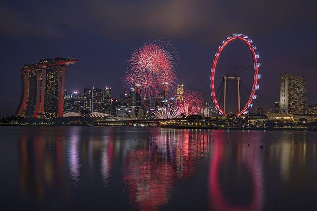 NDP 2018 Fireworks @ Marina Bay